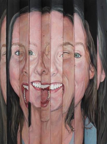 Anxious, 2020, Acrylic on Plastic