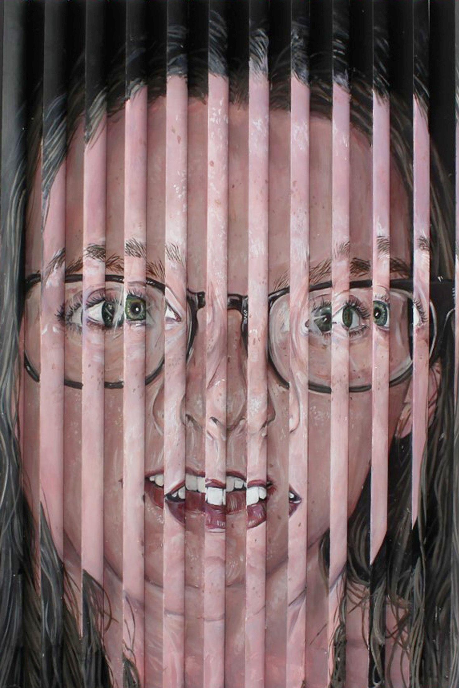 Glasses, 2020, Acrylic on plastic