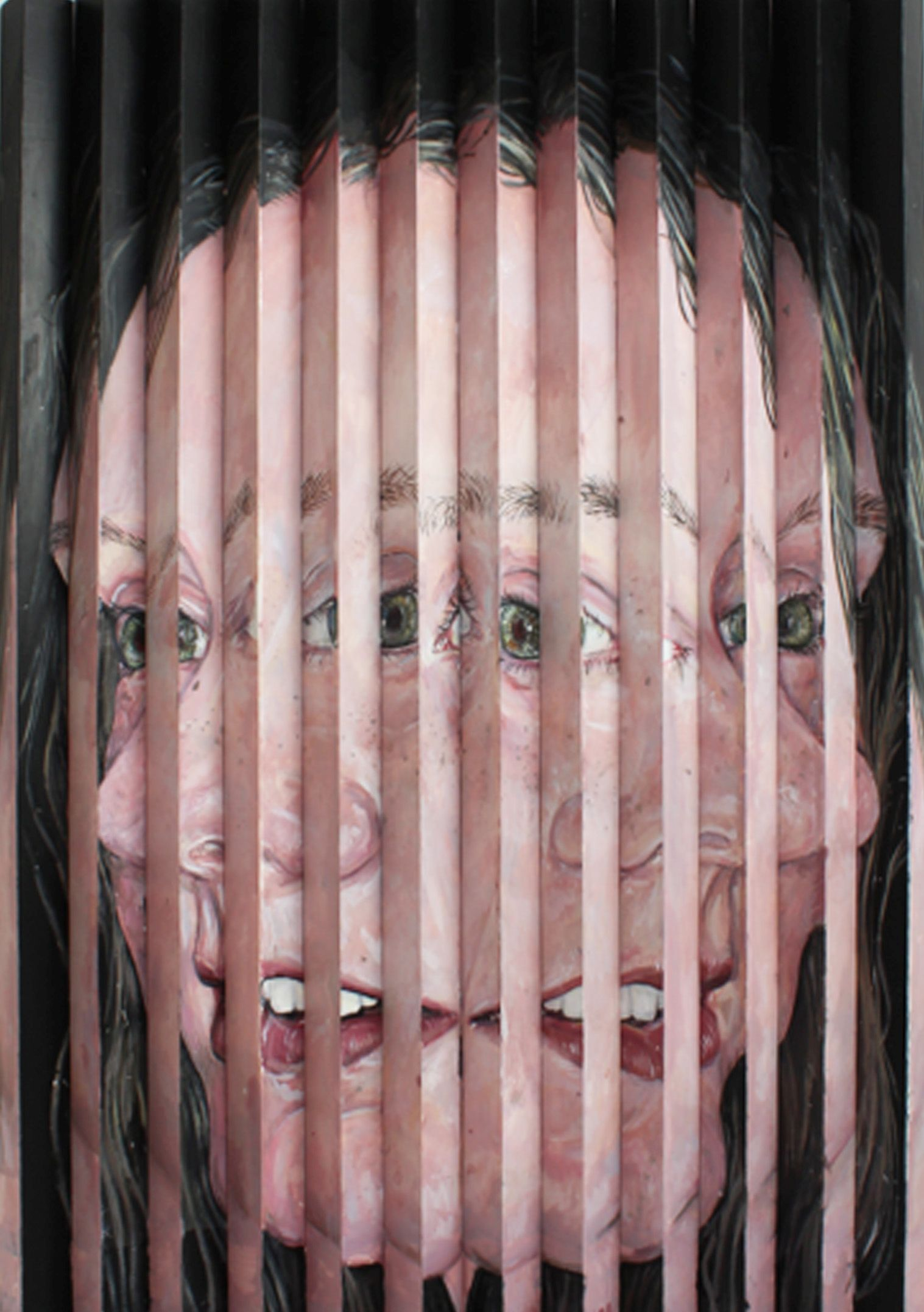 Side Profile, 2020, Acrylic on plastic