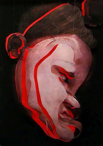 Suspended Portrait, 2020, Installation